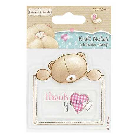 Kraft Notes Forever Friends Mini Clear Stamp