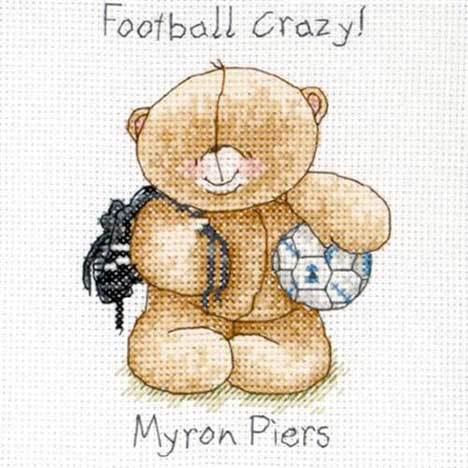 Football Crazy Forever Friends Cross Stitch Kit