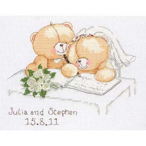 Special Day Forever Friends Cross Stitch Kit Personalised