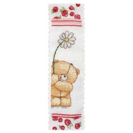 Forever Friends Floral Cross Stitch Bookmark