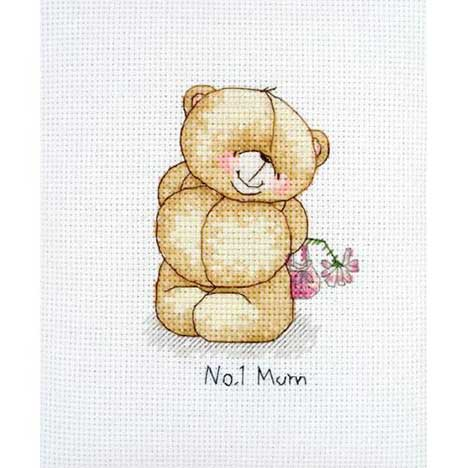 No.1 Mum Mini Forever Friends Cross Stitch Kit