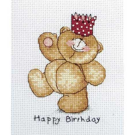 Happy Birthday Forever Friends Cross Stitch Kit