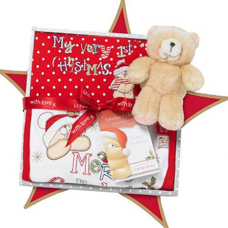 First Christmas Forever Friends Medium Box Gift Set (0-3 Months)