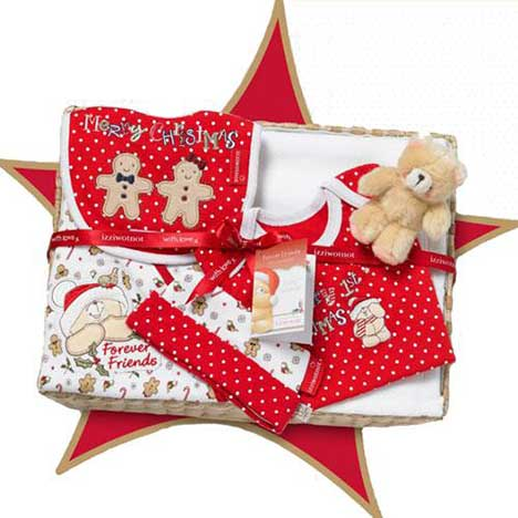 Gingerbread Forever Friends Large Basket Gift Set (3-6 Months) (was £49.99)