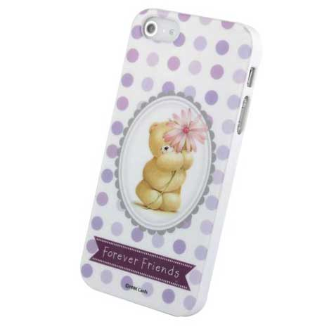 Forever Friends Purple Polka iPhone 5/5S Gel Case