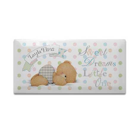 Personalised Forever Friends Baby Hanging Door Plaque