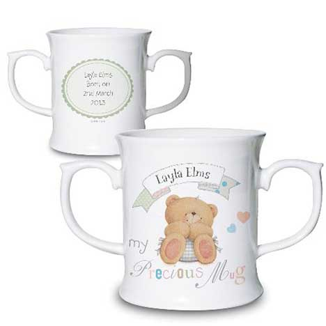 Personalised Forever Friends Bone China Baby Loving Mug