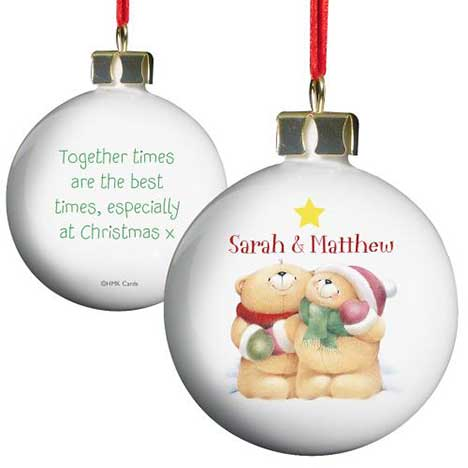 Personalised Forever Friends Couple Christmas Bauble