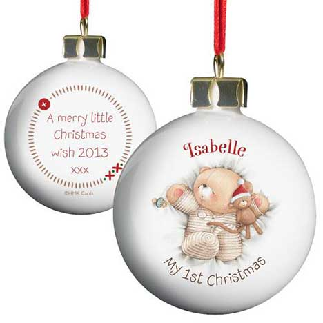 Personalised Forever Friends My 1st Christmas Bauble