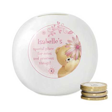 Personalised Forever Friends Big Flower Moneybox