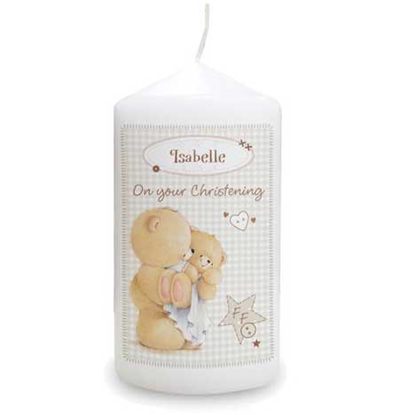 Personalised Forever Friends Baby Candle