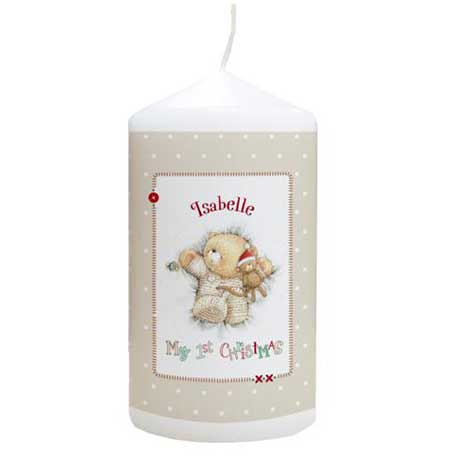 Personalised Forever Friends My 1st Christmas Candle