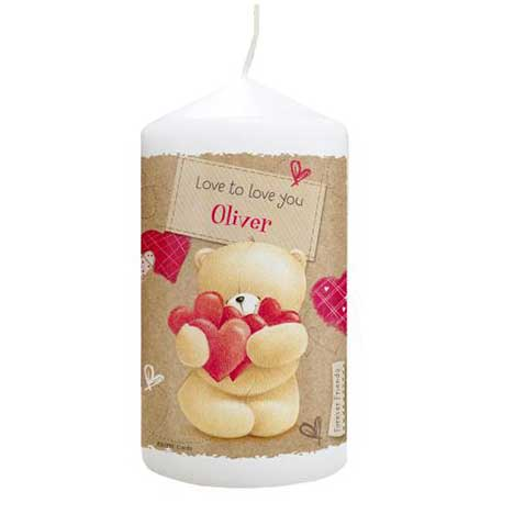 Personalised Forever Friends Love Heart Candle