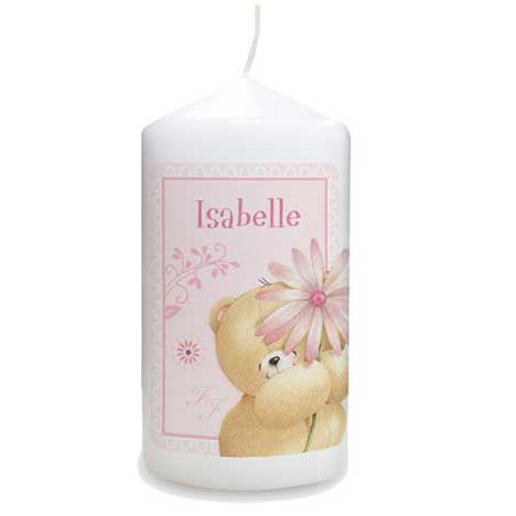 Personalised Forever Friends Big Flower Candle