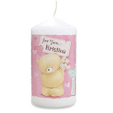 Personalised Forever Friends Pink Craft Candle