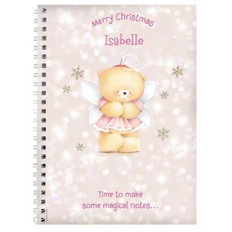 Personalised Forever Friends Christmas Angel Notebook