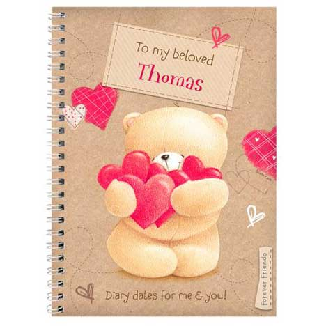 Personalised Forever Friends Love Heart Diary