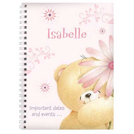 Personalised Forever Friends Big Flower Diary