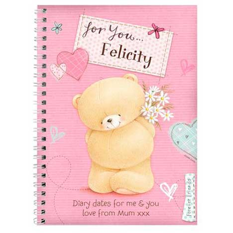 Personalised Forever Friends Pink Craft Diary