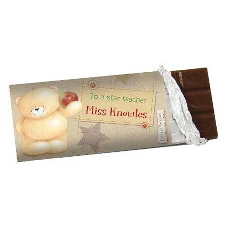 Personalised Forever Friends Teacher 100g Chocolate Bar