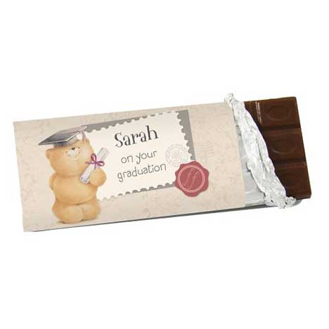 Personalised Forever Friends Graduation 100g Chocolate Bar