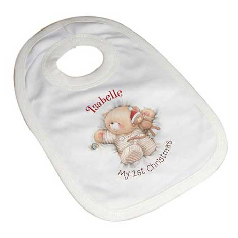 Personalised Forever Friends My 1st Christmas Bib
