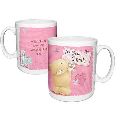 Personalised Forever Friends Pink Craft Mug