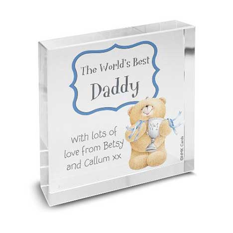 Personalised Forever Friends No1 Trophy Glass Block