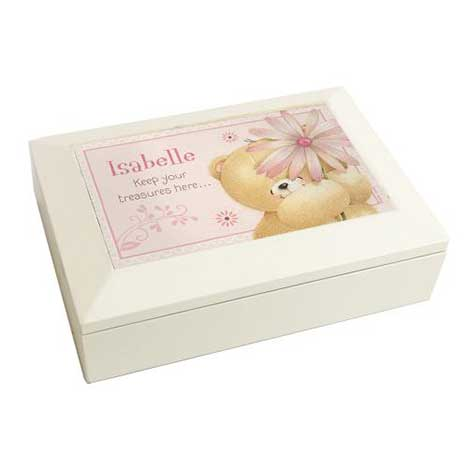 Personalised Forever Friends Big Flower Jewellery Box
