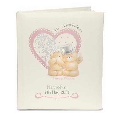 Personalised Forever Friends Wedding Traditional Photo Album