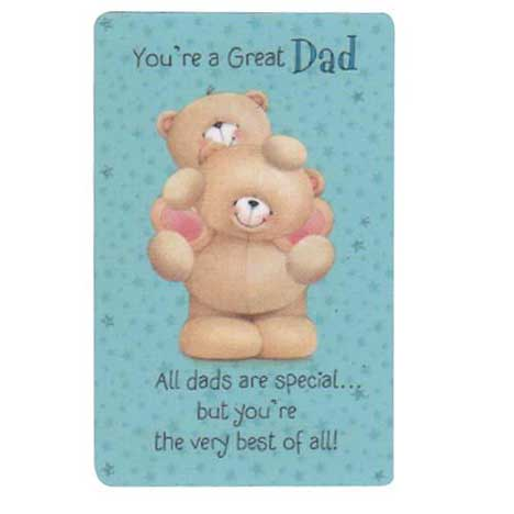 Dad Forever Friends Wallet Card
