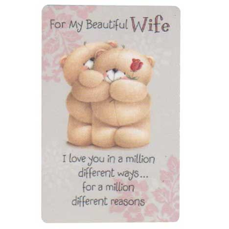 Wife Forever Friends Wallet Card